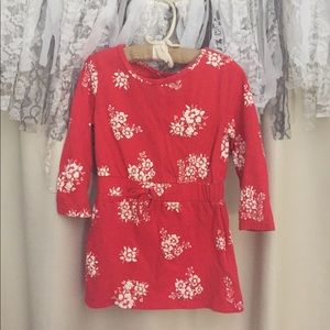 2T Old Navy red floral dress